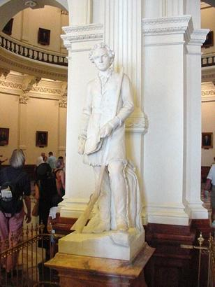 Statue of S.F. Austin Elizabet Ney at State Capitol in Austin Texas