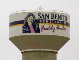Freddy Fender on San Benito Texas water tower