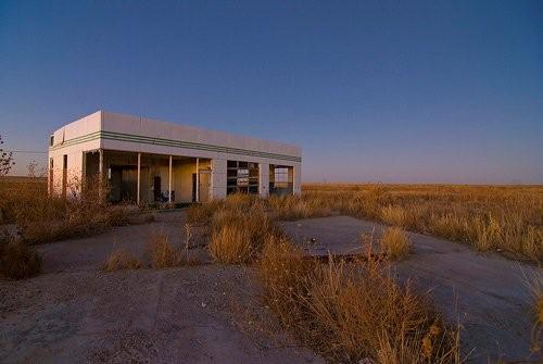 Route 66 abandoned  gas station, Glenrio, Texas