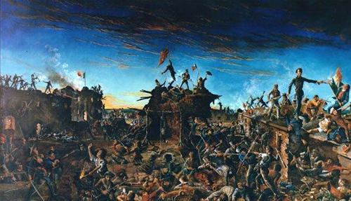 Dawn at the Alamo, painting