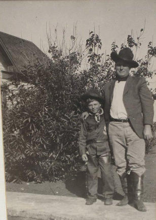 Valley Wells, Texas  - Sal A. Armstrong and son Sal Alvin Armstrong, Jr. , 1922