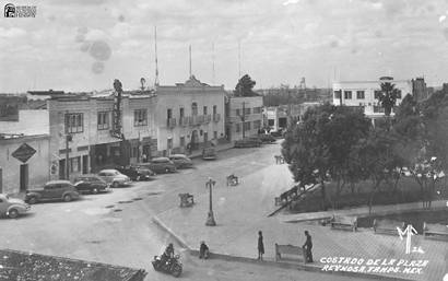 Plaza in Reynosa Mexico, old photo