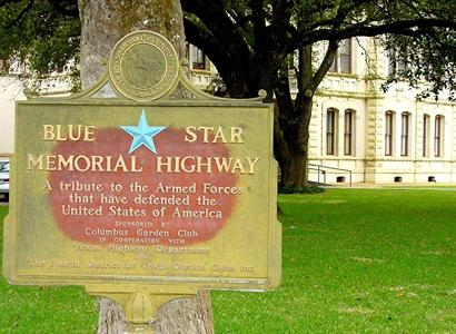 Columbus TX - Blue Star Memorial Highway Marker