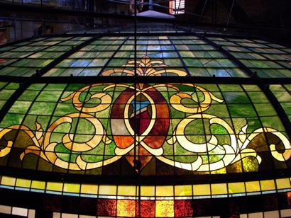 Colorado County Courthouse stained glass dome