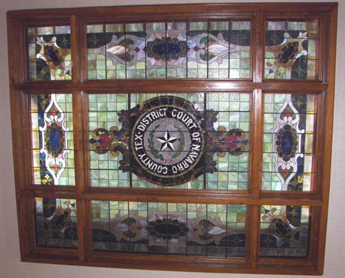 Corsicana Texas - Navarro County courthouse courtroom skylight