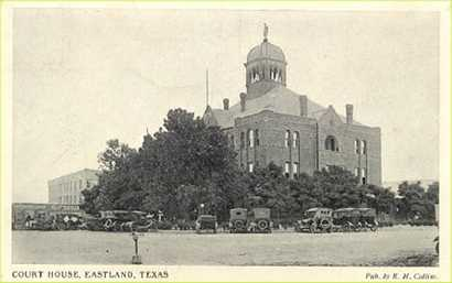 Eastland County courthouse, Texas, demoished