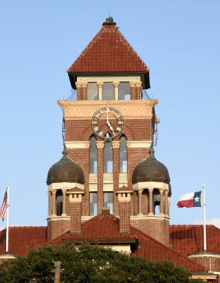 Gonzales Tx - Gonzales County Courthouse Tower