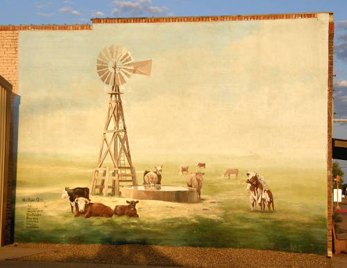 "Hale Center Tx Mural - ""Hi-Plains Oasis"""