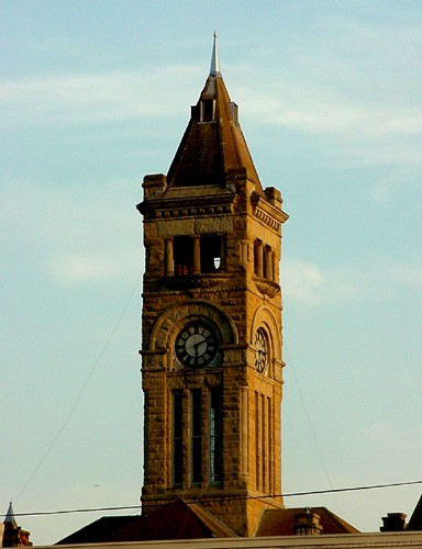 TX Lavaca County courthouse tower