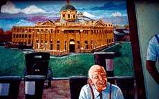 Angelina County Courthouse mural by Lance Hunter
