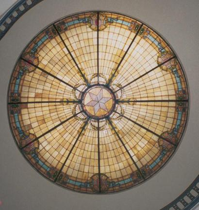 Anderson County Courthouse glass dome, Palestine, Texas