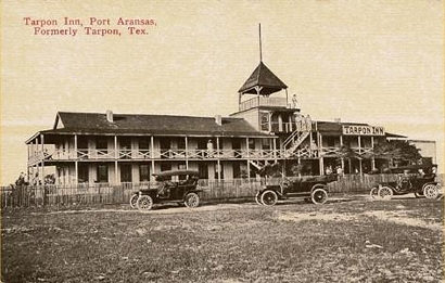 Tarpon Inn, Port Aransas, Texas 1920s old postcard