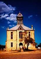 Former Irion County courthouse in Sherwood Texas