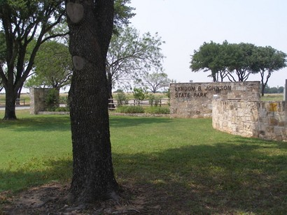 Lyndon B. Johnson State Park and Historic Site entance, near Stonewall, Texas
