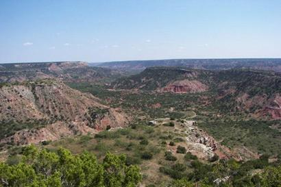 Palo Duro Canyon view from top - Texas State Park