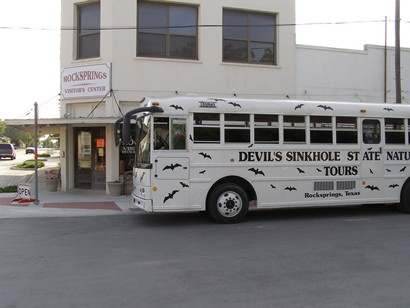 Rocksprings, TX, Devil's Sinkhole Visitors Center Tour Bus
