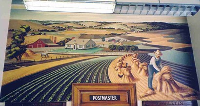Farmersville Texas post office mural