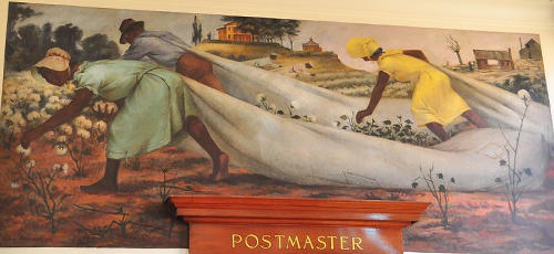 Linden, Texas Post Office Mural – The Last Crop, 1939 by Victor Arnautoff