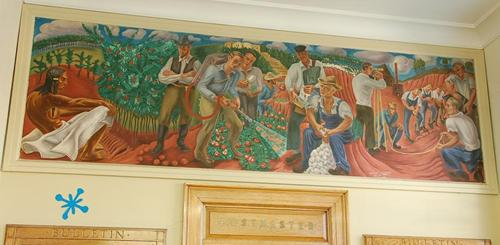 Rusk Texas Post Office Mural Agriculture and Industry by Bernard Zacheim