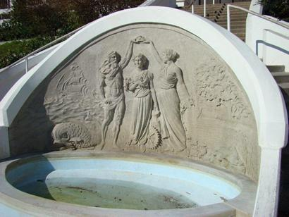 Corpus Christi, Texas - Fountain, Queen of the Sea, Confederate Monument by Pompeo Coppini