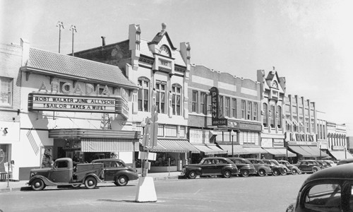 Tyler TX North Spring Street 1946, Downtown Arcadia Theatre