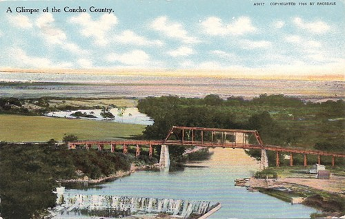 Concho River Bridge, Texas