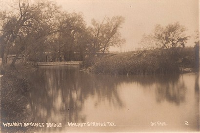 Walnut Springs Bridge, Walnut Springs TX ca1910