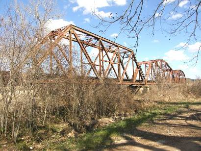 Brazos River Railroad Bridge.