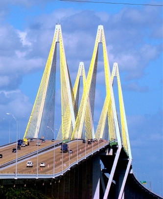 Fred Hartman Bridge connecting Baytown and La Porte, Texas