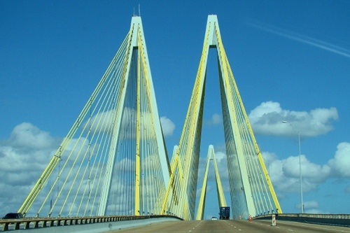 Fred Hartman Bridge, Houston  ship channel, Texas