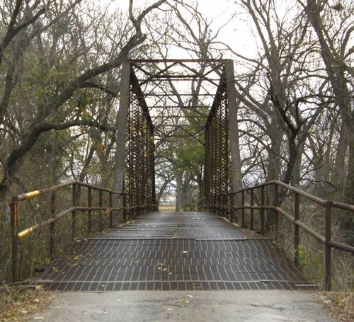 TX - Milam County 1911 Through Truss Bridge over San Gabriel River