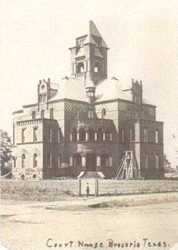 1894 Brazoria County courthouse, Texas , old post card