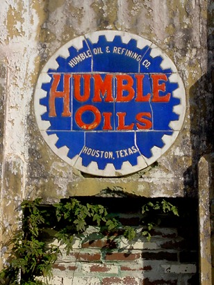 Humble Oils tile sign, San Antonio old gas station