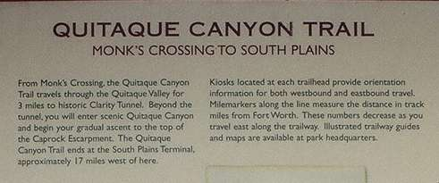 Quitaque Canyon Trail text