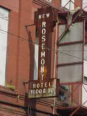Rosemont Hotel neon sign, Beaumont, Texas