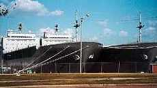 Big ships in Beaumont Texas