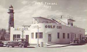 Gulf Cafe, Port Isabel, Texas 1930s