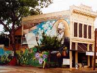 Lindheimer mural in New Braunfels
