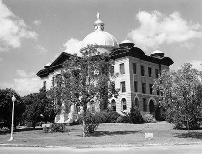 Hays County Courthouse, San Marcos, Texas old photo