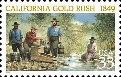 USPS Stamp Commemorating 1849 Gold Rush