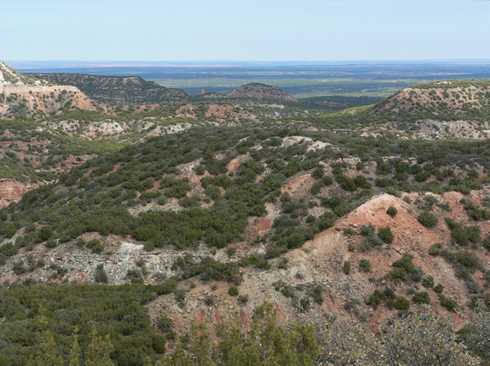Caprock Canyon, view from Silverton, Texas