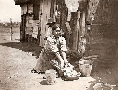 Sweetwater TX, 1910,  Woman Making Tortilla