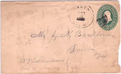 Bath TX - Walker County 1899 Postmark