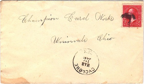 Cyclone TX Bell County  1898 Postmark