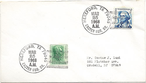Castro County, Hereford, TX Easter Rural Branch postmark