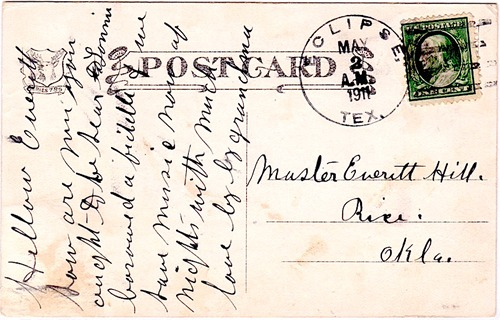 Eclipse, TX Gaines County, postmark