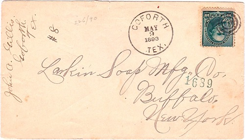 Goforth, TX, Hays County, 1894 postmark