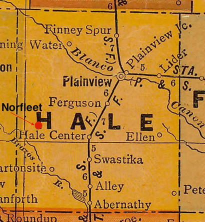Hale County Texas  old map