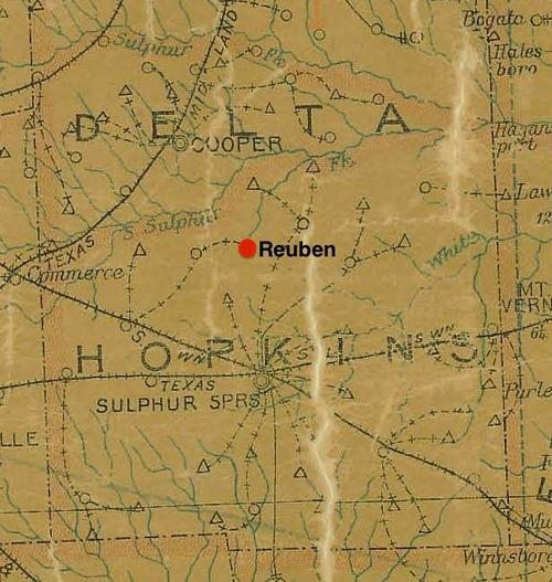 TX Hopkins County vintage map