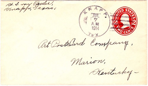 Knapp TX Scurry County 1914 postmark